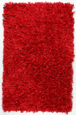 St. Croix Shimmer Shag Ss05 Red Area Rug