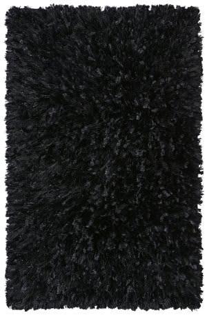 St. Croix Shimmer Shag Ss07 Black Area Rug
