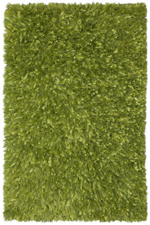 St. Croix Shimmer Shag Ss08 Green Area Rug