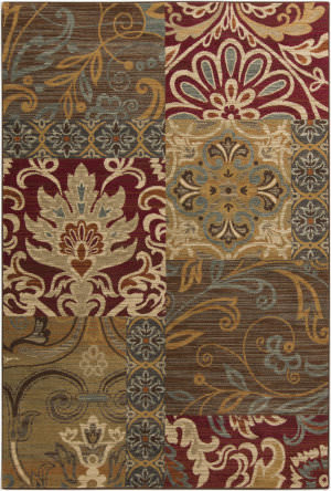 Surya Arabesque ABS-3025 Burgundy Area Rug
