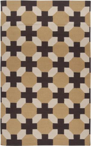 Surya Archive ACH-1716 Parchment/Espresso/Cumin Area Rug
