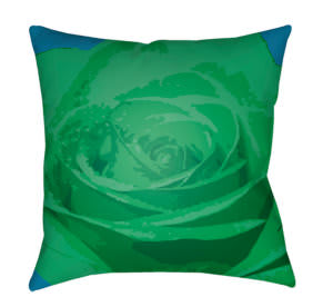 Surya Abstract Floral Pillow Af-005