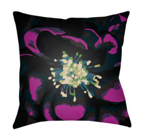 Surya Abstract Floral Pillow Af-008