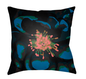 Surya Abstract Floral Pillow Af-010