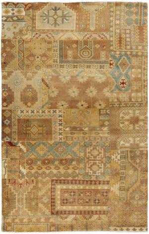 Surya Ainsley AIN-1011 Gold / Rust / Sea Foam Area Rug