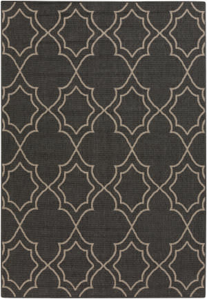 Surya Alfresco ALF-9590 Black / Taupe Area Rug