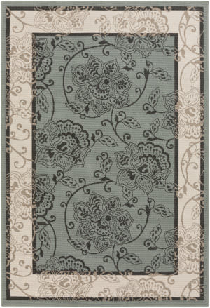 Surya Alfresco ALF-9594 Black / Green Area Rug