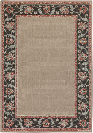 Surya Alfresco ALF-9597 Black / Green / Red Area Rug