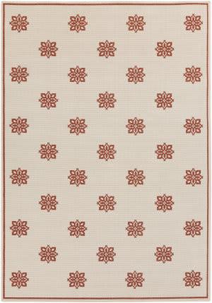 Surya Alfresco ALF-9605 Beige / Red Area Rug