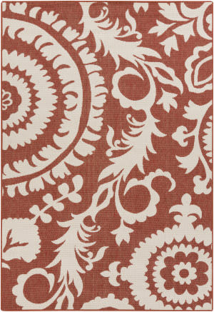 Surya Alfresco ALF-9613 Beige / Red Area Rug