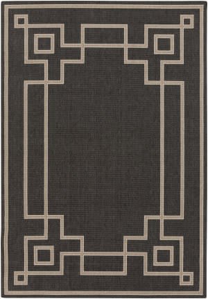 Surya Alfresco ALF-9630 Black Area Rug