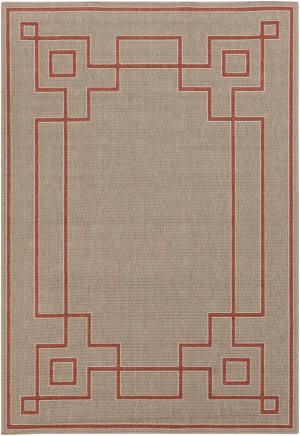 Surya Alfresco ALF-9633 Beige / Red Area Rug