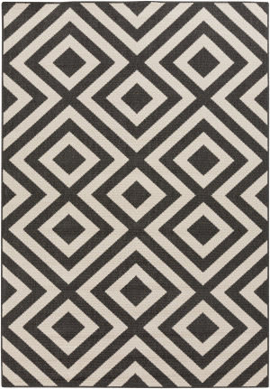 Surya Alfresco ALF-9639 Black / Beige Area Rug