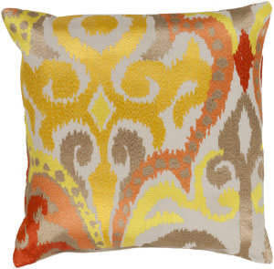 Surya Ara Pillow Ar-072 Saffron/Orange