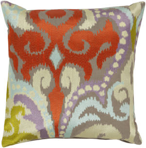 Surya Ara Pillow Ar-073 Taupe/Orange