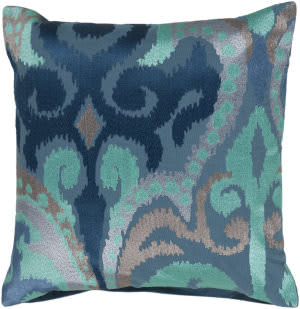 Surya Ara Pillow Ar-075 Blue/Aqua