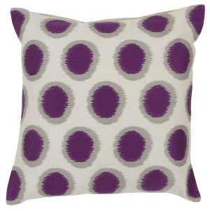 Surya Ikat Dots Pillow Ar-089 Purple