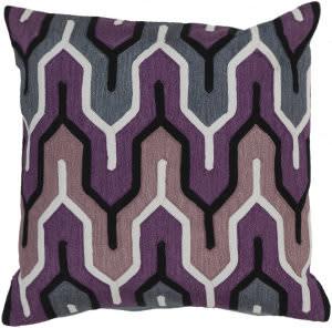 Surya Aztec Pillow Ar-107 Purple