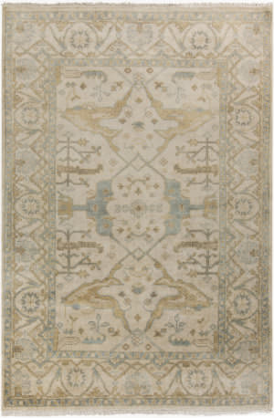 Surya Antique Atq-1000 Moss / Beige Area Rug