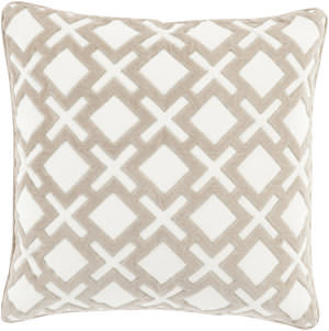 Surya Alexandria Pillow Ax-002 Taupe/Cream