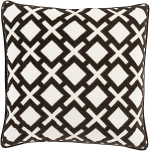 Surya Alexandria Pillow Ax-003 Black