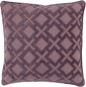 Surya Alexandria Pillow Ax-004 Mauve/Dark Purple