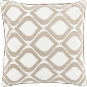 Surya Alexandria Pillow Ax-007 Taupe/Cream