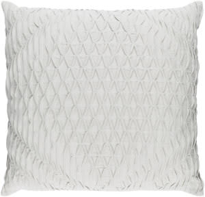 Surya Baker Pillow Bk-003 Silver Grey