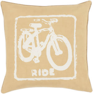 Surya Big Kid Blocks Pillow Bkb-018 Wheat