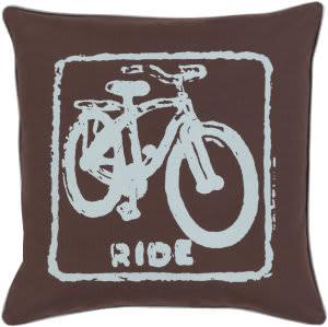 Surya Big Kid Blocks Pillow Bkb-020 Brown/Aqua