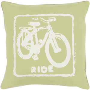 Surya Big Kid Blocks Pillow Bkb-021 Lime
