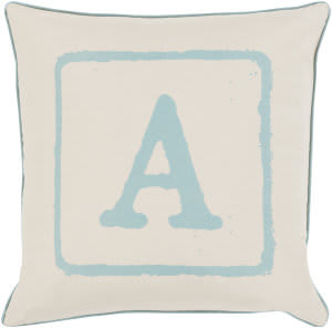 Surya Big Kid Blocks Pillow Bkb-022 Aqua