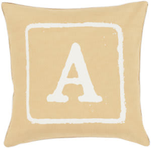 Surya Big Kid Blocks Pillow Bkb-025 Wheat