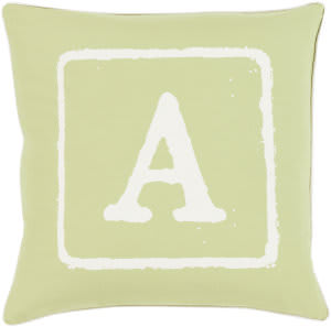 Surya Big Kid Blocks Pillow Bkb-028 Lime