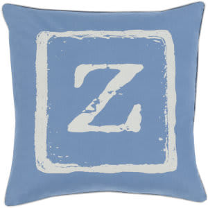 Surya Big Kid Blocks Pillow Bkb-031 Denim