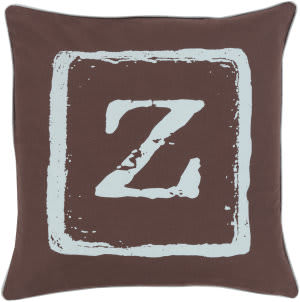 Surya Big Kid Blocks Pillow Bkb-034 Brown/Aqua
