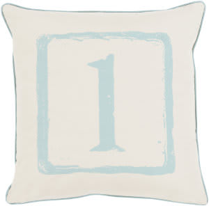 Surya Big Kid Blocks Pillow Bkb-036 Aqua