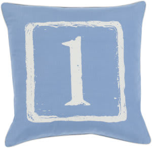 Surya Big Kid Blocks Pillow Bkb-038 Denim