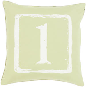 Surya Big Kid Blocks Pillow Bkb-042 Lime