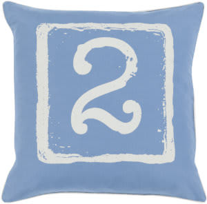 Surya Big Kid Blocks Pillow Bkb-045 Denim