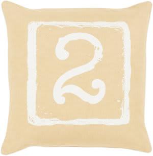 Surya Big Kid Blocks Pillow Bkb-046 Wheat