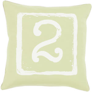 Surya Big Kid Blocks Pillow Bkb-049 Lime