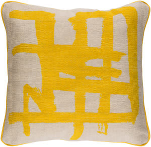Surya Bristle Pillow Bt-006 Yellow