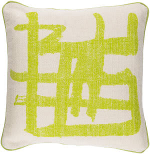 Surya Bristle Pillow Bt-008 Lime