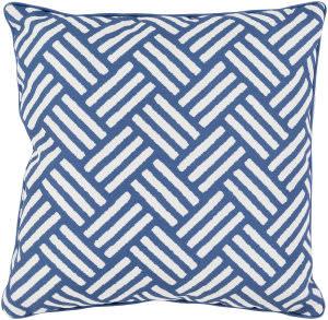 Surya Basketweave Pillow Bw-001 Blue
