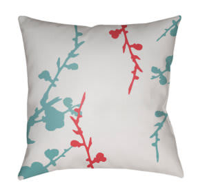Surya Chinoiserie Floral Pillow Cf-017