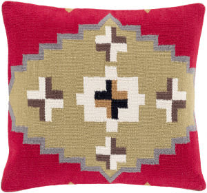 Surya Cotton Kilim Pillow Ck-002 Red