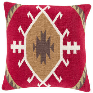 Surya Cotton Kilim Pillow Ck-003 Red