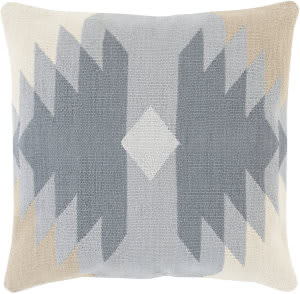 Surya Cotton Kilim Pillow Ck-005 Grey