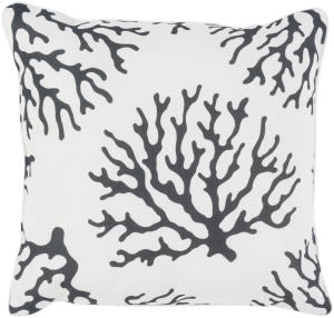 Surya Coral Pillow Co-007 Black